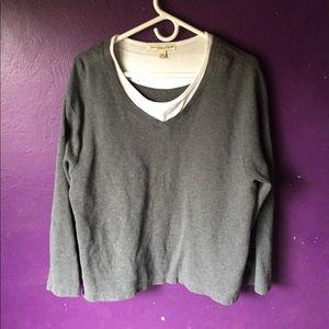 2X Carolyn Taylor Woman V-Neck Sweater